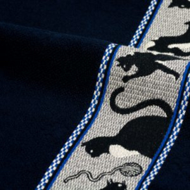 Bunzlau castle handdoek cats donkerblauw