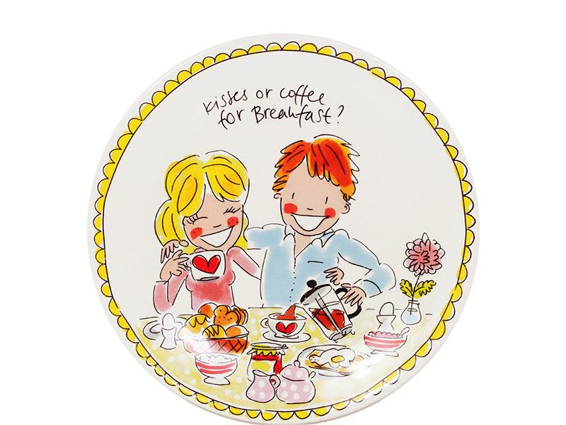 Blond bord meisje en jongen