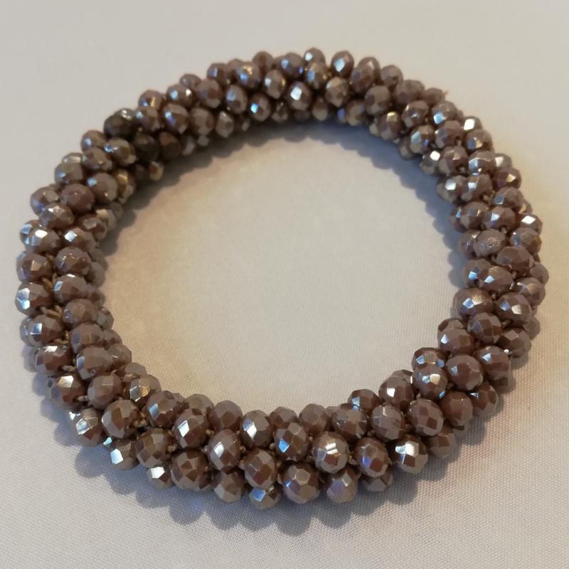 Armband grijs/bruin