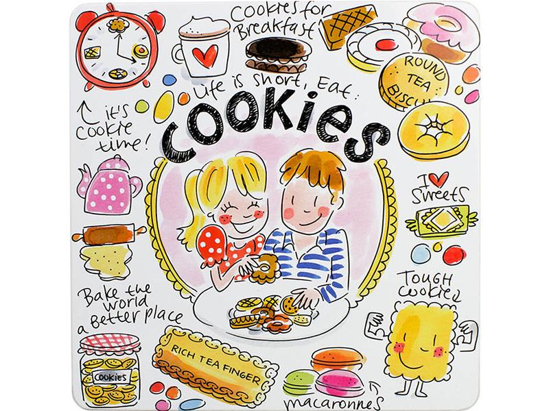 Blond koekjes blik