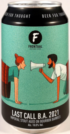 Frontaal ~ Last Call Bourbon BA 2021 33cl can