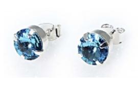 Oorsteker Swarovski Light Sapphire