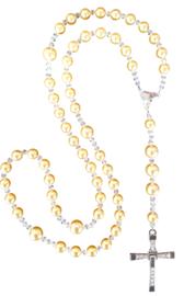 Rozenkrans vervaardigd met Swarovski kristallen parels Gold