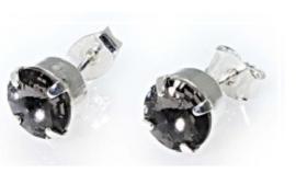 Oorsteker Swarovski Black Diamond
