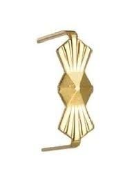 Goudvergulde clip 8 mm per 50 stuks
