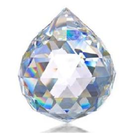 Kristalbol 20 mm , Zilverkristal
