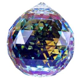 Kristalbol 30 mm Aurore Boreale , Zilverkristal
