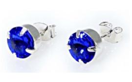 Oorsteker Swarovski Sapphire