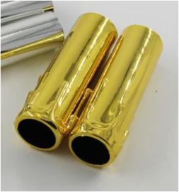Kaarshulsjes goud 25 mm diameter