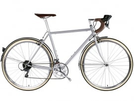 6ku City Bike Troy Highland Light grey met 16 vitessen
