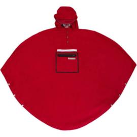 Poncho/regenjas rood