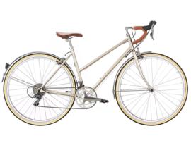 6ku Helen city bike Champagne met 16 vitessen