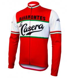 Retro wielershirt La Casera rood