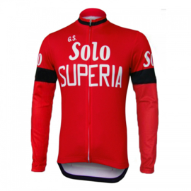 Retro wielershirt Solo Superia rood