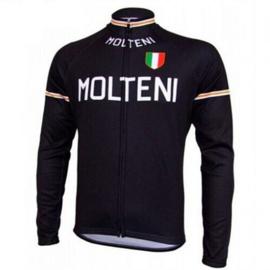Retro wielershirt Molteni zwart
