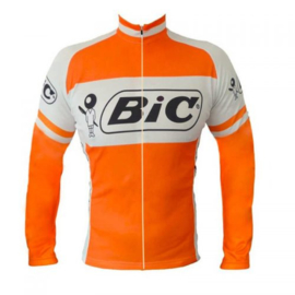 Retro wielershirt BIC oranje