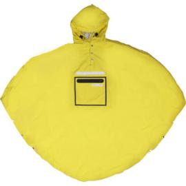 Poncho/regenjas geel