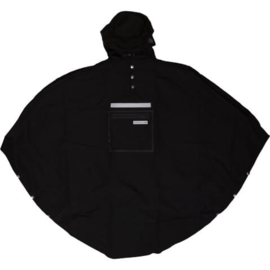 Poncho/regenjas zwart