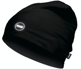 "H.A.D. beanie muts ""Printed Fleece"" Black eyes reflective"
