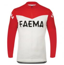 Retro wielershirt Faema rood - wit
