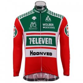 Retro wielershirt 7 Eleven rood