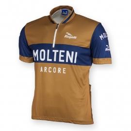 Retro wielershirt Molteni bruin - Rogelli