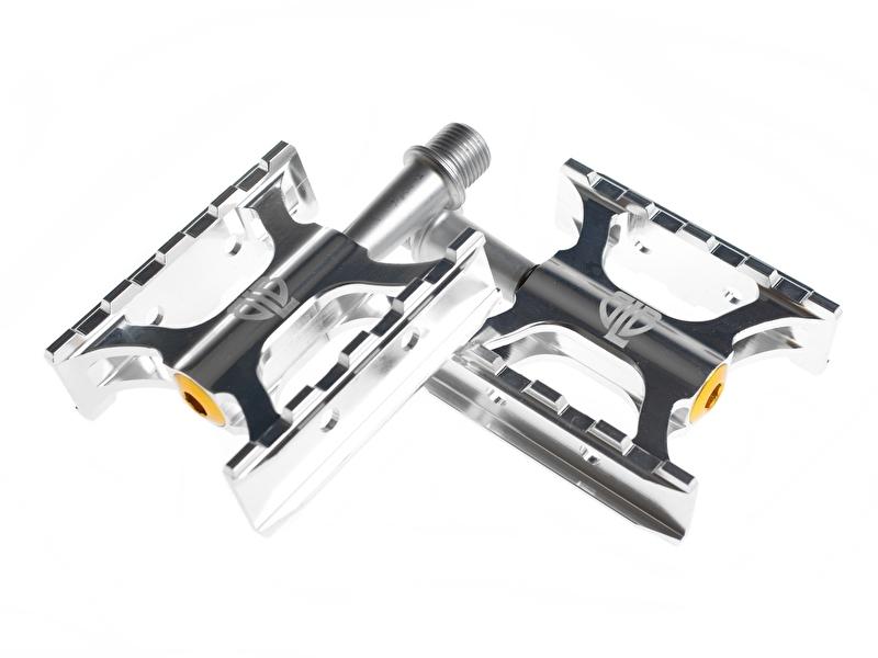 Track pedalen Zilver