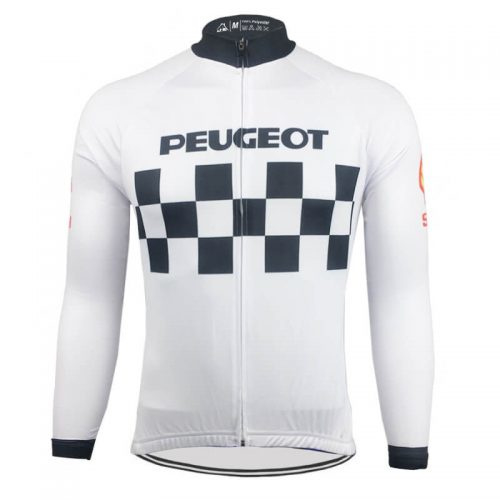 Retro wielershirt Peugeot Shell Michelin wit