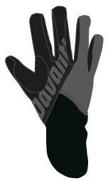 Davanti handschoen Grey