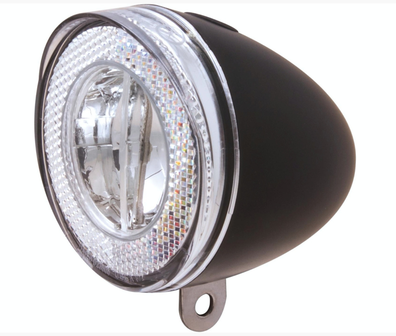 Spanninga koplamp zwart