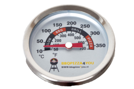 BBQPIZZA4YOU Grill- & Pizzaring thermometer