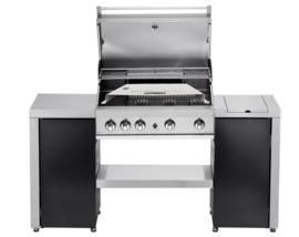 Gas BBQ Pizzaoven Set  Aluminium