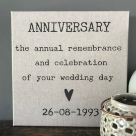 Canvasdoek Anniversary