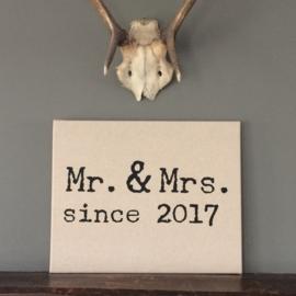 Canvasdoek huwelijk