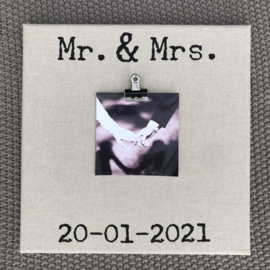 canvasdoek 30x30 cm Mr. & Mrs.