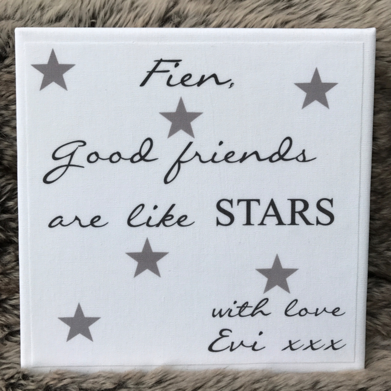 Canvasdoek Friends are like stars