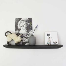 Wandplank - Zwart eiken - 45 cm