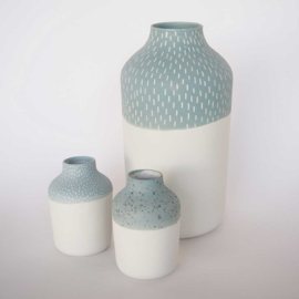 Vaas | Clay | L | Blauw | Kleine streep