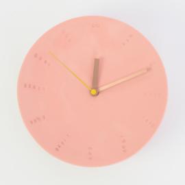Klok groot - Rood (oud roze)