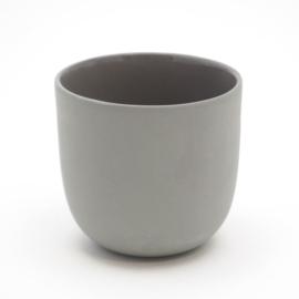 Blanko thee kop - Donkergrijs