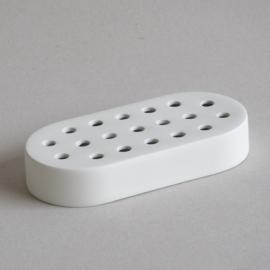 Potloodhouder - Ovaal  - Wit