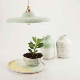 Platte hanglamp | Groen