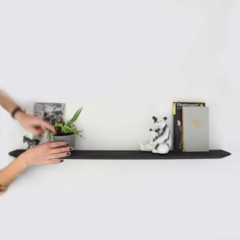 Wandplank - Zwart eiken - 90 cm