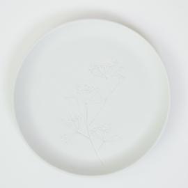 Plantenbord L - Wit 03