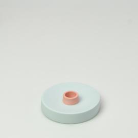 Kaarsenkandelaar | Rond  | Lichtblauw 413