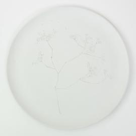Plantenbord XL - Wit 04