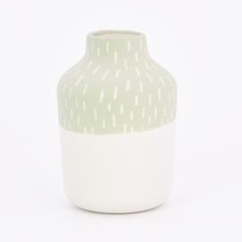 Vaas | Clay | S | Groen | Grote streep