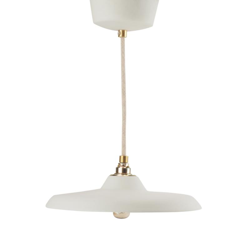 Platte hanglamp | Wit