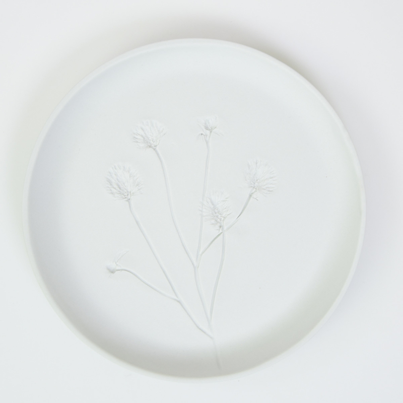 Plantenbord L - Wit 04