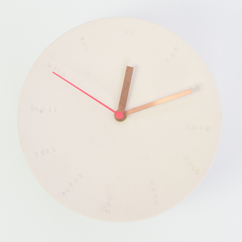 Klok groot - Roze